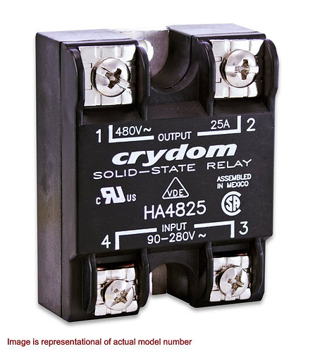 Crydom HD4850 50 Amp / 48-530Vac, DC Input, Panel Mount Solid State Relay