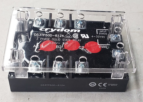 Crydom D53TP50D, DC Input, 50 Amp / 48-530Vac Three-Phase Solid State Relay