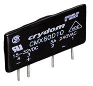 Crydom CMX60D10, DC Input, 10 Amp / 1-60Vdc PCB Mount Solid State Relay