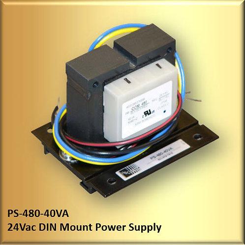PS-480-40VA 24Vac / 40VA DIN Mount Power Supply