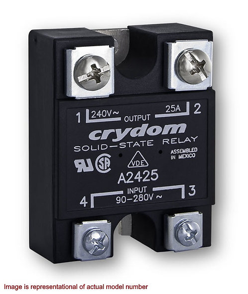 Crydom A2450 50 Amp / 24-280Vac, AC Input, Panel Mount Solid State Relay