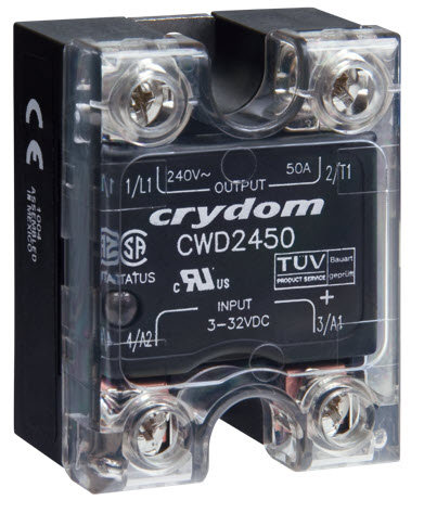 Crydom CWA48125, AC Input, 125 Amp / 48-660Vac Panel Mount Solid State Relay