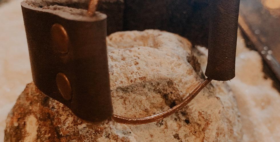 Copper Wire and Leather Cuff