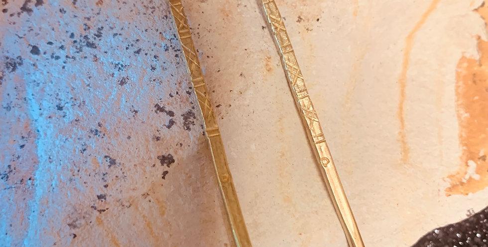 Hammered Brass Earrings