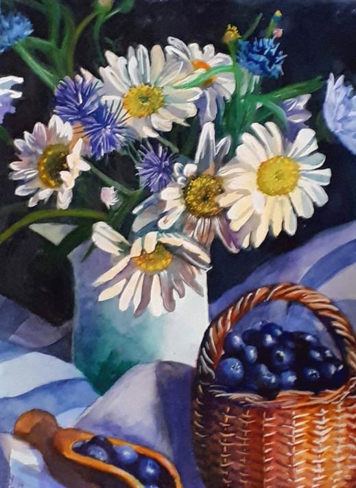 Daisies & Blueberries
