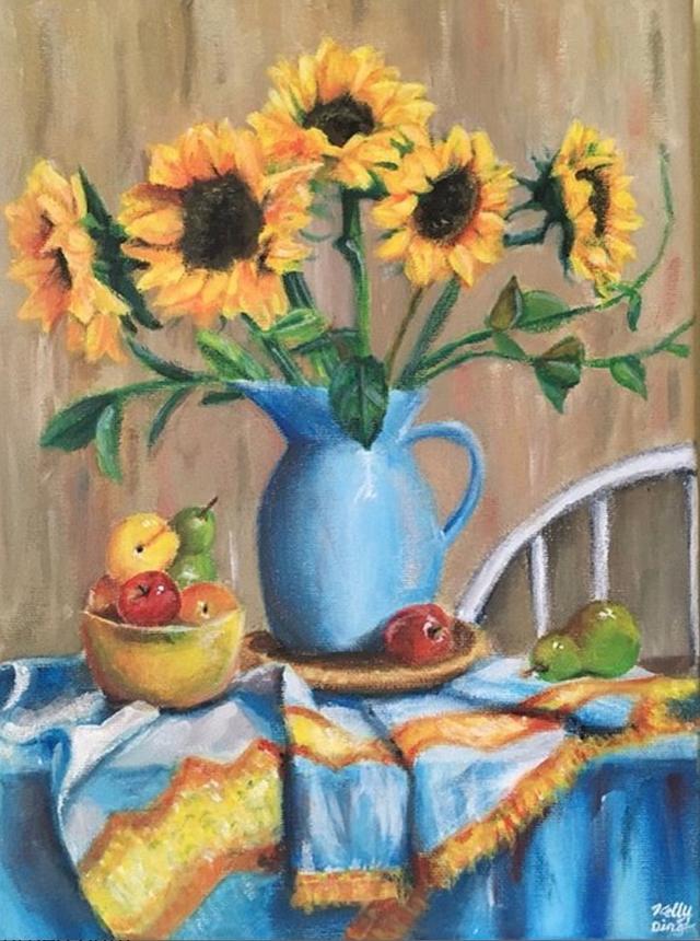 Sunflowers & Fruit