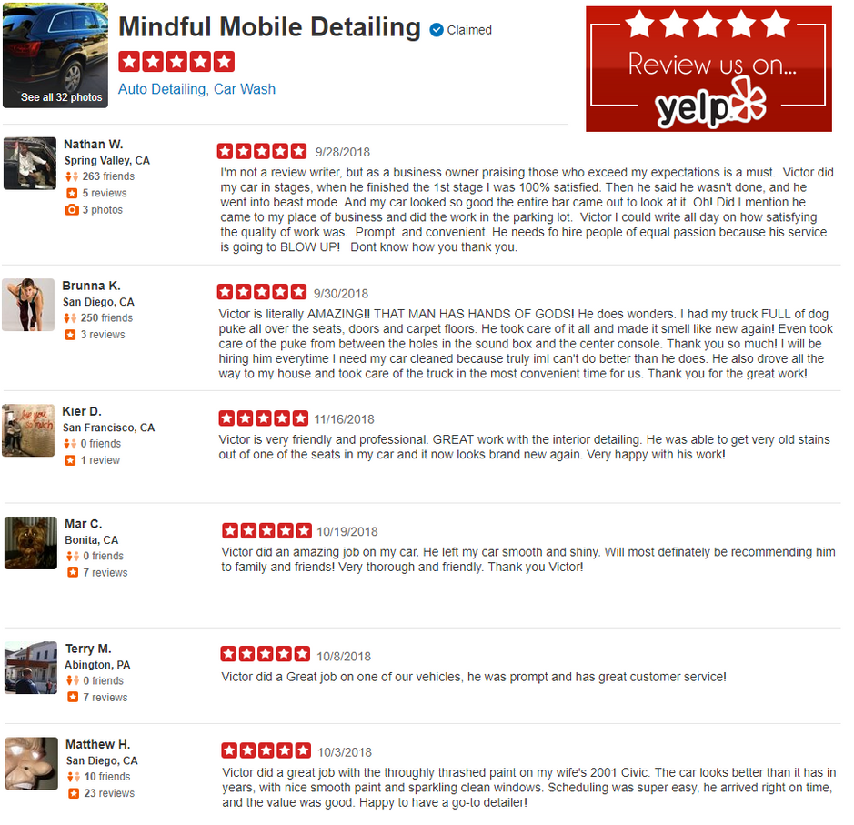 Yelp Reviews Mindful Mobile Detailing Sa