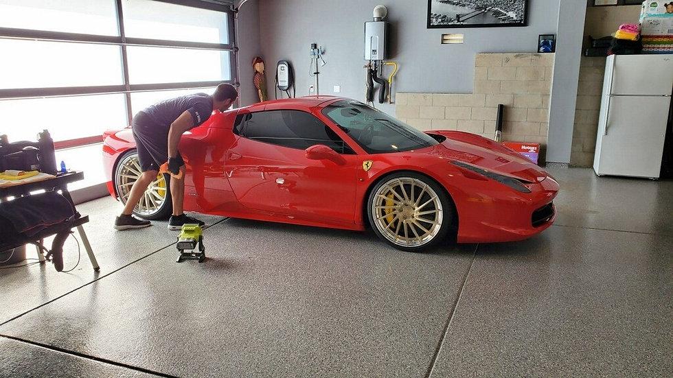 Mindful Car Detailing San Diego. Ceramic Coating a Ferrari Spider