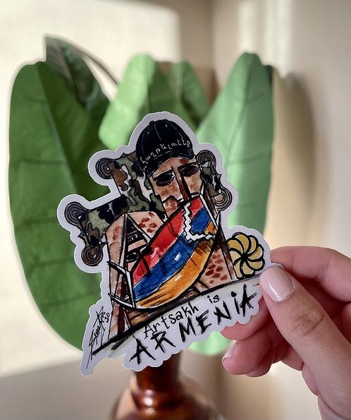 Artsakh is Armenia Sticker