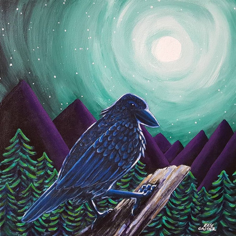 Raven in the Moon Light