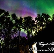 Rainbow Aurora Silhouette