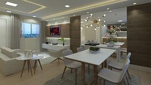 Sala de jantar 3 dorm (1 suite)