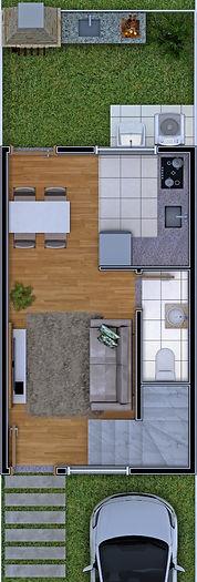 2 dormitórios Piso Inferior