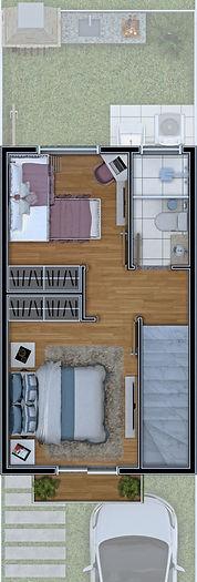 2 dormitórios Piso Superior