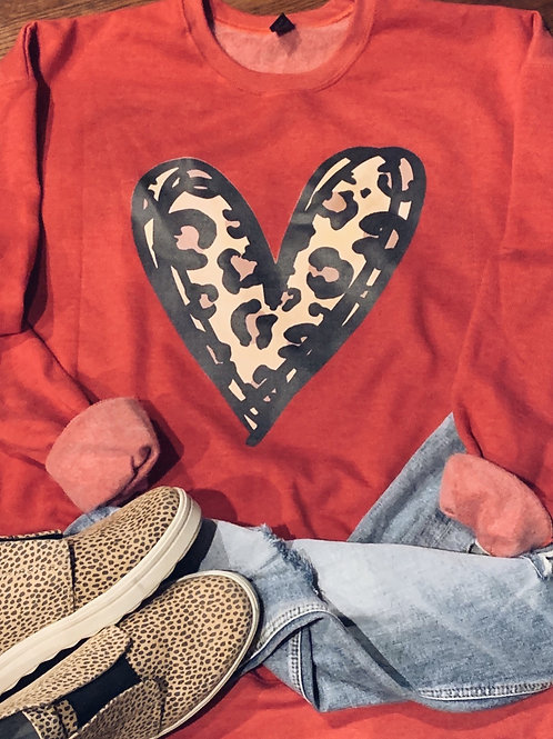 Cheetah Heart Sweatshirt