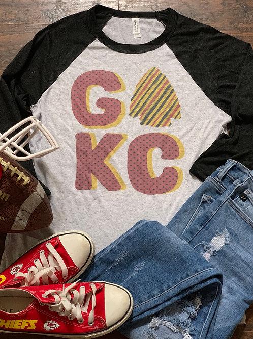 Go KC Raglan