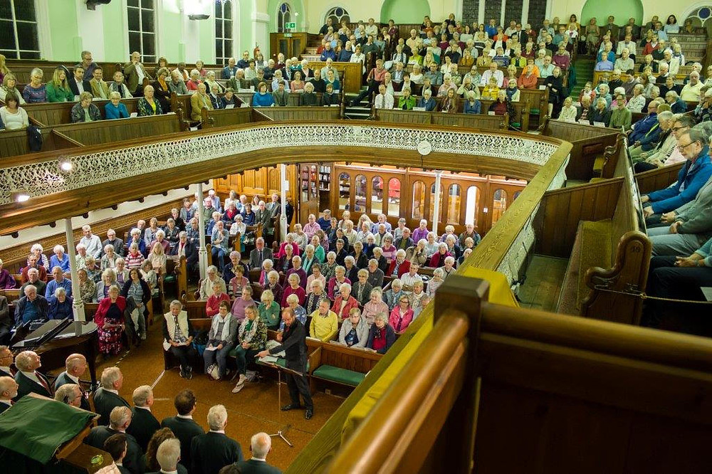 The Gwalia Male Voice Choir from London at Chapel Field Methodist Church in September 2018