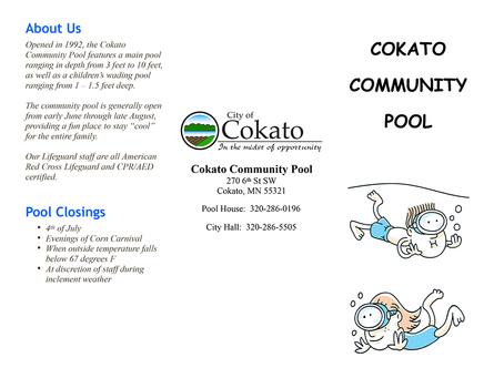 2021 Community Pool Info