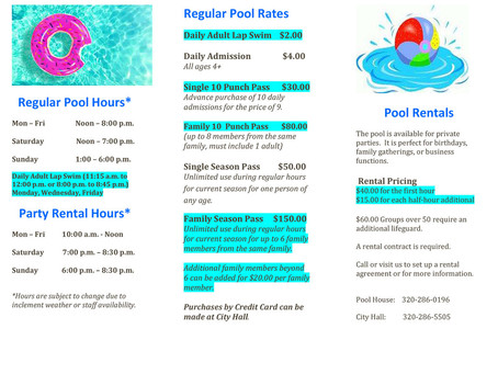 REVISED Community Pool Brochure for 2021