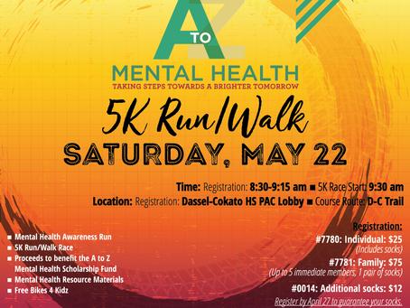 A to Z Mental Health Awareness 5K Run/Walk 2021