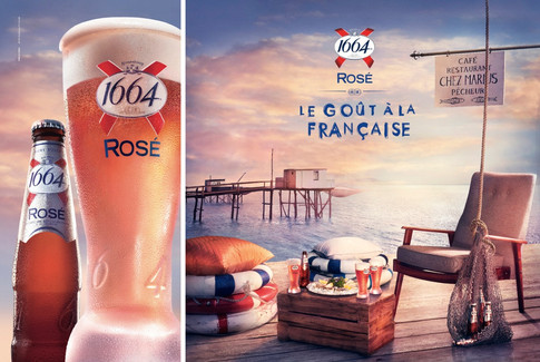 Kronenbourg 1664 Rose. Photography Kevin