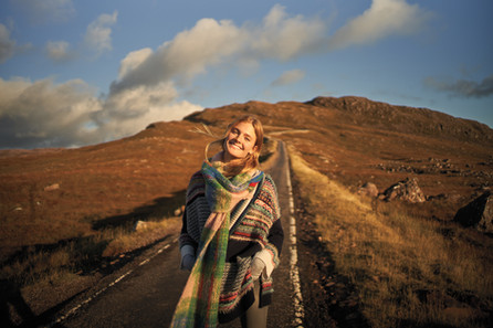 ANTHROPOLOGIE photo shoot Scottish Highl