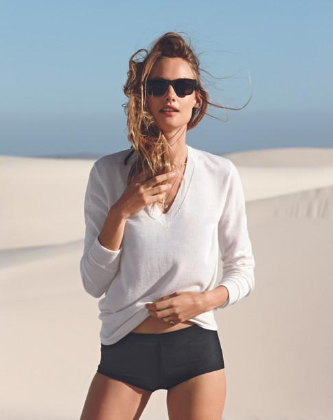 J Crew fashion production Cape Town sand