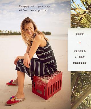 Anthropologie casual fashion photoshoot
