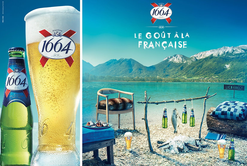 Kronenbourg 1664 Beer. Photography Kevin