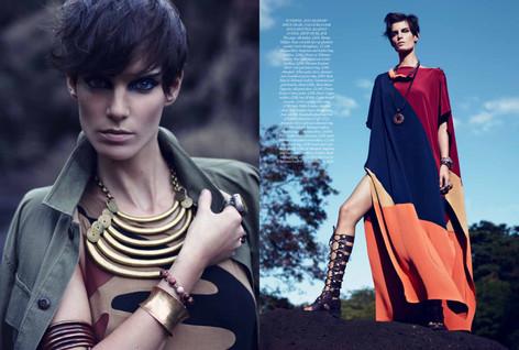 2012 - UK Harpers Bazaar. Produced in Ma
