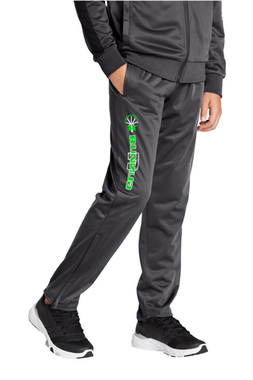 Adult and Youth Tricot Track Jogger Pants With Lower Leg Zippers