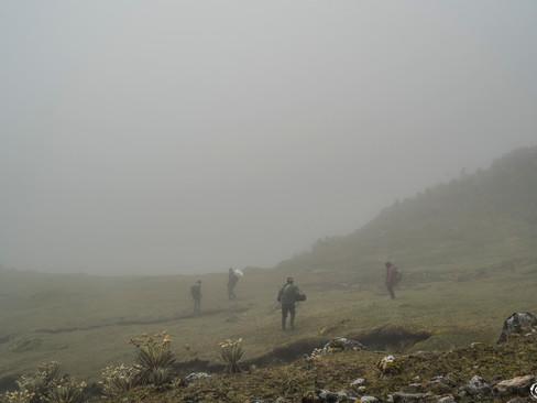 Niebla en la Sierra Nevada del Cocuy y Güicán