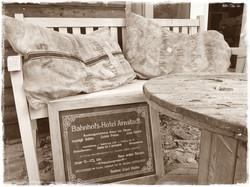 Kissen aus antiken Getreidesäcken