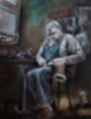 Schuster, Öl auf Leinwand, 80x100, 2020