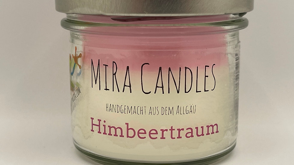 """MiRa Candles """"Himbeertraum"""" 90g"""