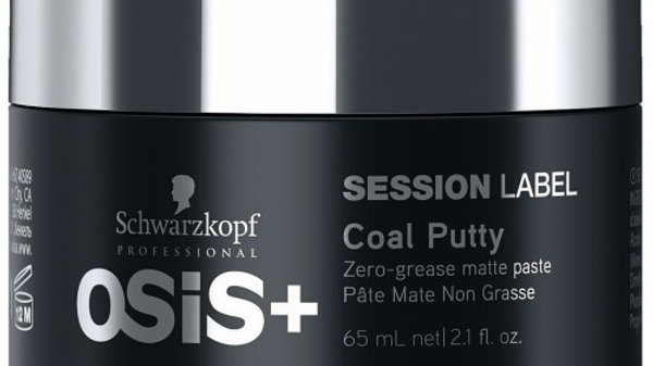 Schwarzkopf Osis+ Session Label Coal Putty 65 ml (Wachs für starken Halt)