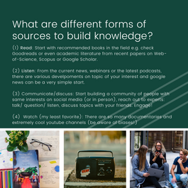 different forms of sources to build knowledge