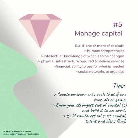 #5  Manage capital
