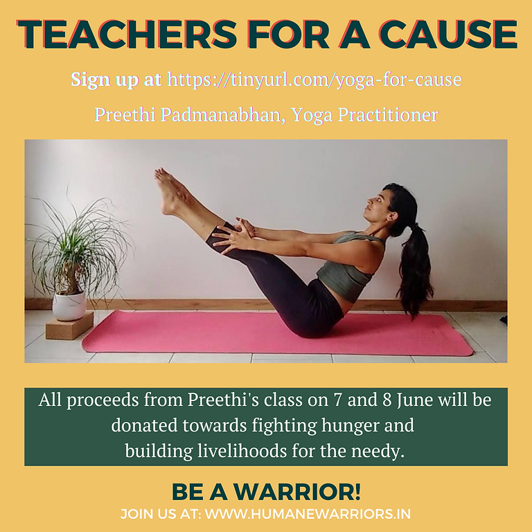 RAISED 66,000 INR! Yoga for a cause with Preethi
