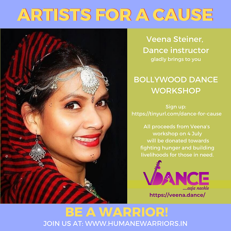 RAISED 25,000 INR! Bollywood Dance for a cause by Veena Steiner