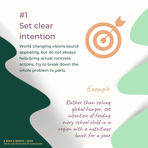 #1 Set clear intentions