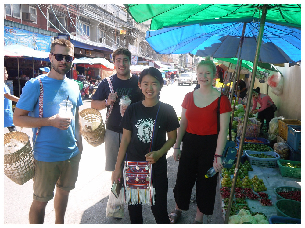 shopping at the local market in #chiangrai