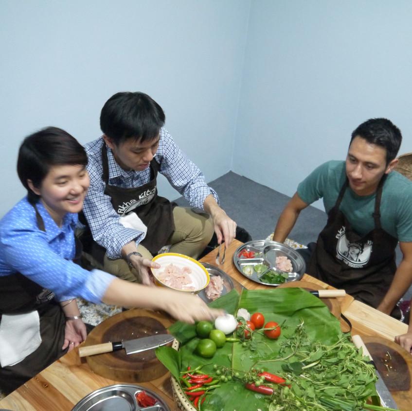 prep station Akha kitchen