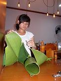 armee with banana leaf