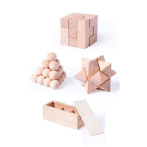 Conj. 3 jogos madeira