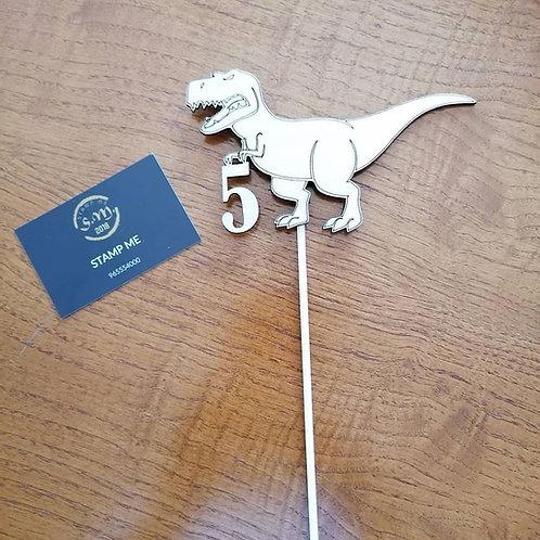 Topo de bolo Dinossauro