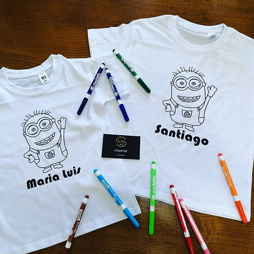 T-shirt criança para colorir
