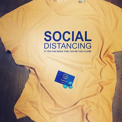 T-shirt distanciamento social