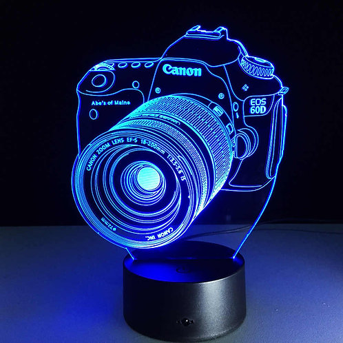 Candeeiro máquina fotográfica
