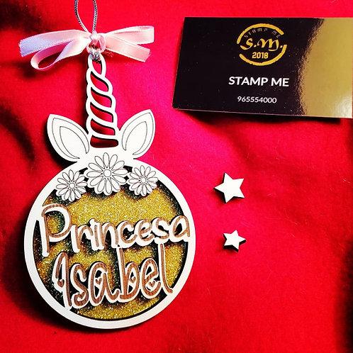 Pendente Princesa com unicórnio